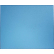 "DACASSO® Dacasso Colors Faux Leather 17"" x 14"" Table Mat - Sky Blue"