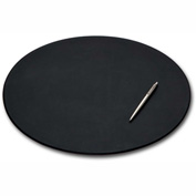 "DACASSO® Black Leather 17"" x 14"" Oval Conference Pad"