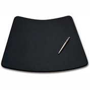 "DACASSO® Black Leather 17"" x 14"" Conference Pad for Round Table"