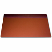 "DACASSO® Mocha Leather 34"" X 20"" Top-Rail Desk Pad"