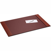 "DACASSO® Rustic Brown Leather 34"" x 20"" Side-Rail Desk Pad"
