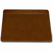 "DACASSO® Rustic Brown Leather 17"" x 14"" Pen Well Conference Pad"