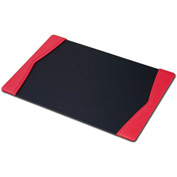 "DACASSO® Red Leather 25.5"" x 17.25"" Side-Rail Desk Pad"