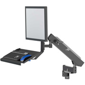 Dectron Industrial Flex 360 Monitor Mount W/ Integrated Keyboard Tray