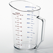Cambro Camwear Measuring Cups, 2 Quarts, 12PK Clear 200MCCW-135