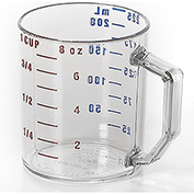 Cambro Camwear Measuring Cups, 1 Cup Measure, 12PK Clear 25MCCW-135