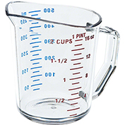 Cambro Camwear Measuring Cups, 1 Pint, 12PK Clear 50MCCW-135