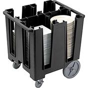 "Cambro Versa Dish Caddy, Maximum Plate Size: 11-1/4"" Black DCS1125-110"