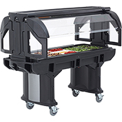 Cambro 5 Ft. Portable Food / Salad Bar with Casters Black VBR5-110