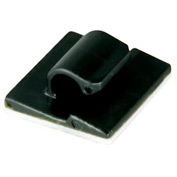 "Cord Clips- Black- 1/8"" x 1/4"", 100 Pieces"