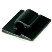"Cord Clips- Black- 3/8"", 100 Pieces"