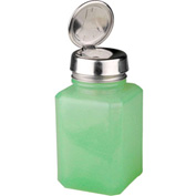 Menda 35246 One-Touch Stainless Steel Liquid Dispenser Square Jade Glass 6 oz