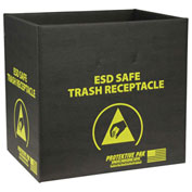 Protektive Pak 9 Gallon Anti-Static Trash Receptacle, Box Only, Black - 37811