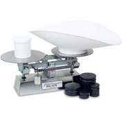 "Detecto 1051TBS SS Baker Dough Scale 16lb, 16oz x 1/4oz 9"" Dia Platforms W/ Scoop, Weight Set"