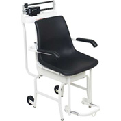 Detecto 475 Chair Scale 400lb x 4oz, Mechanical W/ Lift-Away Arms, Foot Rests, Oversized Wheels