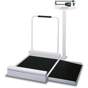 "Detecto 495 Wheelchair Scale 400lb x 4oz, Mechanical 30"" x 26"" x 2"" Platform W/ Detachable Ramp"