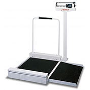 "Detecto 4951 Wheelchair Scale 180kg x 100g, Mechanical 30"" x 26"" x 2"" Platform W/ Detachable Ramp"