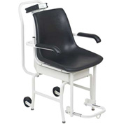 Detecto 6475 Digital Chair Scale 400Lb x 0.2Lb / 180Kg x 0.1Kg W/ Lift Away Arms, Foot Rests, Wheels