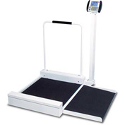Detecto 6495 Digital Wheelchair Scale 400lb x 0.2lb/ 180kg x 0.1kg W/ Detachable Ramp