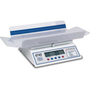 "Detecto 6745 Digital Baby Scale 30lb x 0.1oz/ 15kg x 0.005kg 26"" x 12-3/16"" Tray W/ Measure Tape"