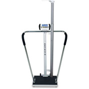Detecto 6854DHR Digital Bariatric Scale 600 x 0.2lb/ 270 x 0.1kg W/ Handrails, Digital Height Rod