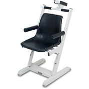Detecto 6875 Digital Chair Scale 400lb x 0.2lb/ 180kg x 0.1kg Battery Powered W/ Wheels