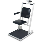 Detecto 6876 Digital Bariatric Scale 600Lb x 0.2Lb/270Kg x 0.1Kg W/ Flip-Up Seat, Arm Rests, Wheels