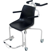 Detecto 6880 Digital Chair Scale 440lb x 0.2lb/ 200kg x 0.1kg W/ Fold-Up Arms, Foot Rest, Wheels