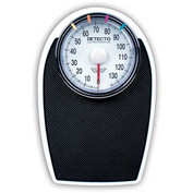 "Detecto D-1130K Bathroom Scale 330lb x 1lb Low Profile 11-1/4"" x 11-34"" Platform W/ Non-Skid Mat"