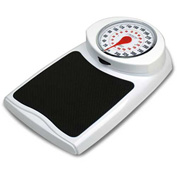"Detecto D350 Bathroom Scale 350lb x 1lb / 160kg x 1kg Low Profile 10-5/8"" x 10-5/8"" Platform"