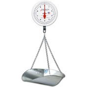 "Detecto MCS-20DP Hanging Scale 20lb (10lb x 1oz) 2 Rev. 8"" Dial W/galvanized Scoop, Double Dial"