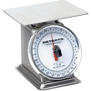 "Detecto PT-25-SR Top Load Scale 25 x 1/8oz, Stainless W/ 6"" Rotating Dial, 5-3/4"" Square Platform"