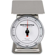 "Detecto PT-500SRK Top Load Scale 500 x 2g Stainless, W/ 6"" Rotating Dial, 5-3/4"" Square Platform"