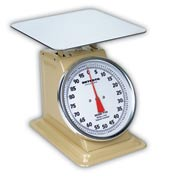 "Detecto T100 Top Load Scale 100lb x 4oz Enamel Finish W/ 10-1/2"" Fixed Dial, 9"" x 9"" SS Platform"