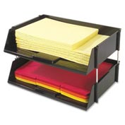 Deflect-o® Industrial Tray™ Side-Load Stacking Tray, 2 Tiers