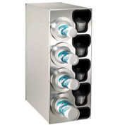 Dispense-Rite® Countertop Left 4 Cup Dispensing Cabinet w/Organizers - SS