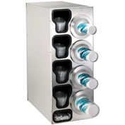 Dispense-Rite® Countertop Right 4 Cup Dispensing Cabinet w/Organizers - SS