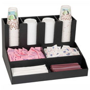 Dispense-Rite CLCO-4BT Cup, Lid, Straw And Condiment Organizer, 8 Compartments, Countertop