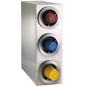 Dispense-Rite® Countertop 3 Cup Dispensing Cabinet - Stainless Steel