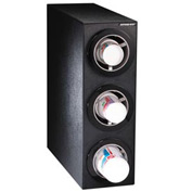 Dispense-Rite® CTC Countertop 3 Cup Dispensing Cabinet - Black