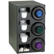Dispense-Rite® Upright Rt 3 Cup Dispensing Cabinet w/Lid, Straw Organizer