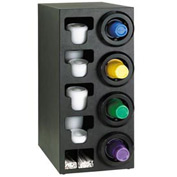 Dispense-Rite® Upright Right 4 Cup Dispenser w/Lid & Straw Organizer