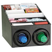 Dispense-Rite® Countertop Cup Dispensing Cabinet w/Lid & Straw Organizer