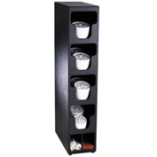 Dispense-Rite® Counter Vertical Lid & Straw Organizer - 4 Sections, Black