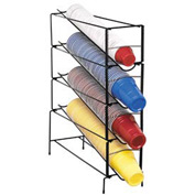 Dispense-Rite 4 Section Vertical Wire Rack Cup Dispenser