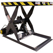 Omni Metalcraft Hydraulic Scissor Lift Table SLHL-10-25-1100-24-36-110/HP Hand Operated 1100 Lb Cap.