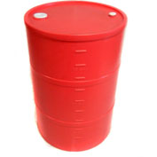 DPI™ - Diversified Plastics Inc. 30 Gallon Closed Head Polyethylene Drum CH-30-12 - Red