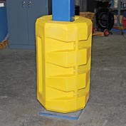 """Poly Structural Column Protector, 10-1/4"""" Square Opening, Yellow"""