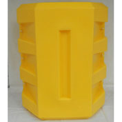 "Poly Structural Column Protector, 16-1/4"" Square Opening, Yellow, CP-16-14"