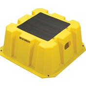 "1 Step Nestable Plastic Step Stand - Yellow 25""W x 25""D x 10-1/2""H - NST-1-14"